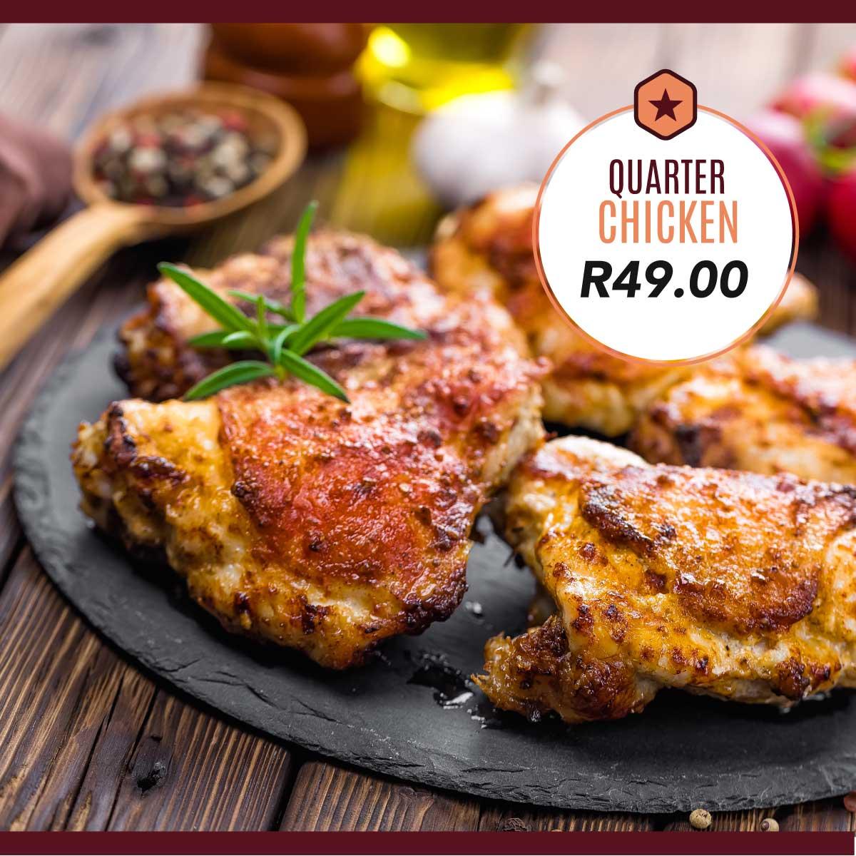 Flamed Quarter Chicken
