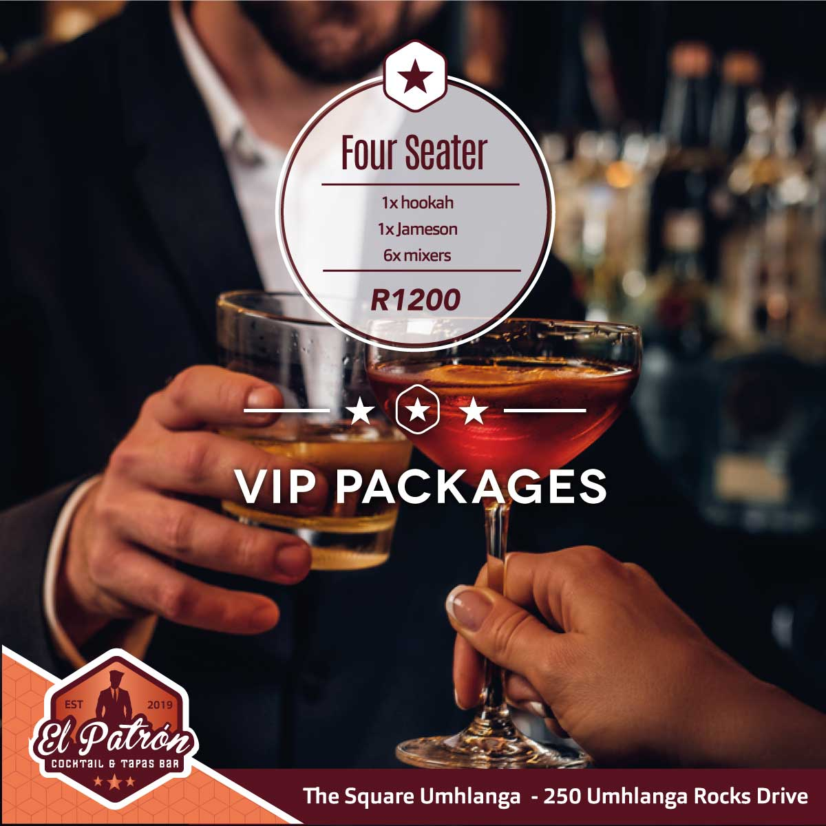 VIP PACKAGE 4 SEATER JAMESON SPECIAL