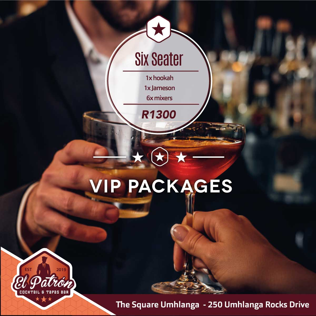 VIP PACKAGE 6 SEATER JAMESON SPECIAL