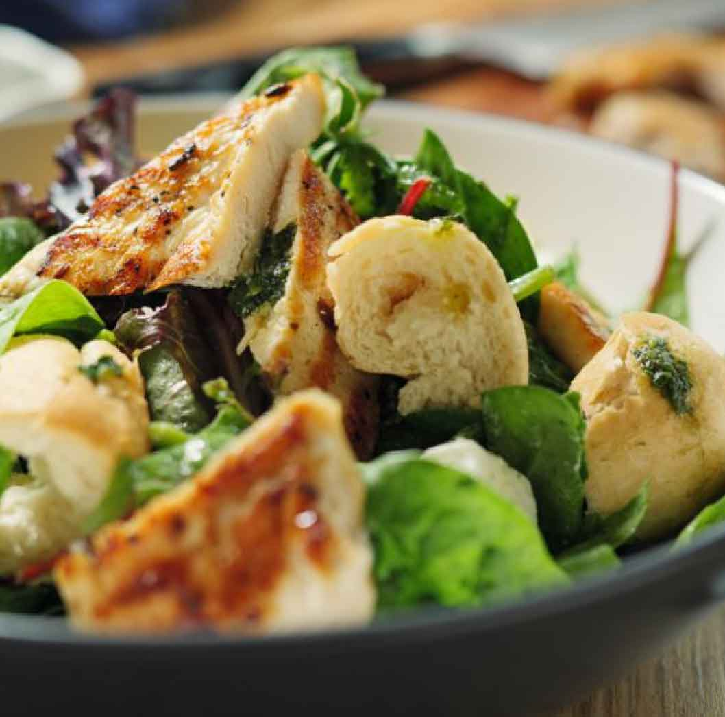 Grilled Chicken Salad with Feta