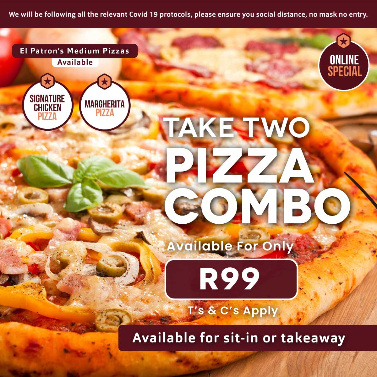 Take Two Pizza Combo